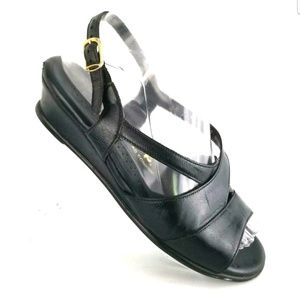 SAS BLACK SANDALS STRAPPY BLACK MODERN SUPPORT
